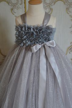 Hey, I found this really awesome Etsy listing at https://www.etsy.com/listing/167730802/silver-hydrangea-flower-girl-tutu-dress