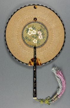 Date: Late 19th century Medium: Bamboo, silk, tortoiseshell, mother-of-pearl, and lacquered wood