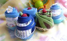 Burp Cloth Cupcake...Boy or Neutral....Baby by mollbelldesigns, $4.75