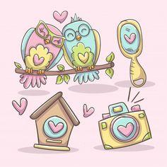 Doodles Kawaii, Kawaii Chibi, Cute Animal Drawings, Cute Drawings, Travel Doodles, Logo Design Love, Sketch Icon, Art Sketchbook, Cute Stickers