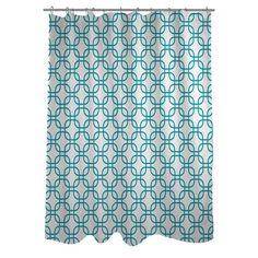 One Bella Casa Hisa 1 Geometric Woven Polyester Shower Curtain | AllModern