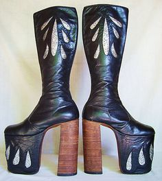 INSANE platform 70s boots. I am dying over here. Just the thing for a KISS concert circa '77