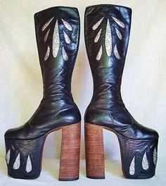 INSANE platform 70s boots. sigh.