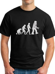 Big Bang Theory - Robot Evolution Sheldon Cooper Funny T-Shirt in 3 Colors