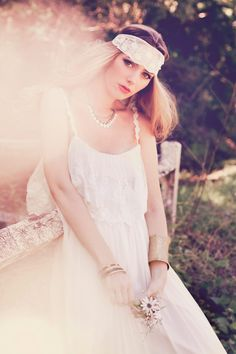 Bohemian brides are sure to fall in love with wedding dresses by Grace Loves Lace.