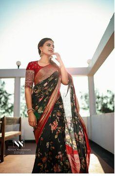 Trendy Sarees, Stylish Sarees, Fancy Sarees, Indian Bridal Outfits, Indian Designer Outfits, Indian Dresses, Silk Saree Blouse Designs, Saree Blouse Patterns, Stylish Blouse Design
