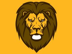 Lion Mascot designed by Dermot Reddan. Mascot Design, Logo Design, Fierce Lion, Lion Head Tattoos, Lion Logo, Football Design, Logo Concept, Animal Logo, Design Reference
