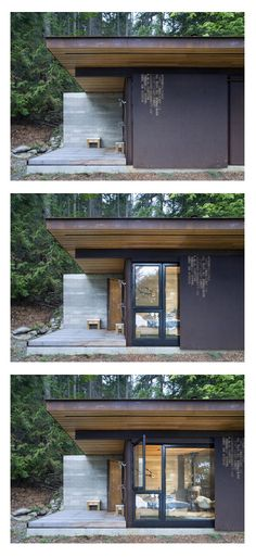 Gulf Islands Cabin | Olson Kundig Architects - like the way you can cover the windows