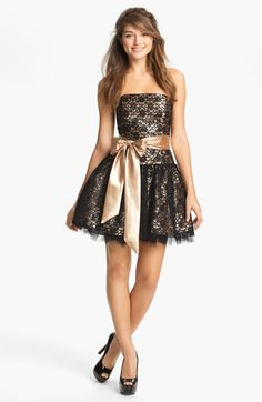 Jessica McClintock Strapless Lace & Tulle Dress | Nordstrom  This was my Junior prom dress!!!! :)
