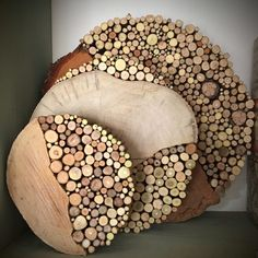 Wood Wood, Wood Art, Wood Decorations, Woodworking Techniques, Wood Slices, Firewood, Wood Crafts, Craft Projects, Action
