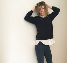Smukke Anne fra bloggen Whatwhenwhere i vores lækre sweatshirt Flavia sweat top til 490 kr, vi synes hun ser yngre ud ;) http://whatwhenwhere.dk/too-old-for-school-but-still-cool-enough/