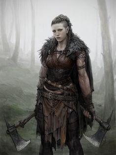 viking warrior vikings champions norse winter is coming Fantasy Warrior, Fantasy Fighter, Fantasy Dragon, Dungeons And Dragons Characters, Fantasy Characters, Female Characters, Fantasy Books, Fantasy Inspiration, Character Inspiration