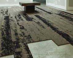 Alfombras modulares TANDUS de AB Kupfer. Carpet FlooringCarpet TilesPavementRugsTextures ...