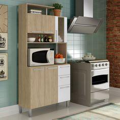 #Cozinha incrível e #compacta é aqui mesmo! #Organização #decoração #design #madeiramadeira <3