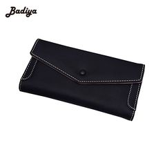 Pu Leather Fashion Womens Purse Brief Design Long Card Holder Purse For Woman Famous Brand Casual Female Billetera