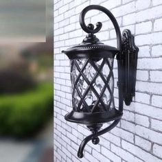 European LED lamp Aluminum Wall Outdoor Wall Sconce Lighting Waterproof Garden Wall Light Fixtures Porch Lights Lamparas Para