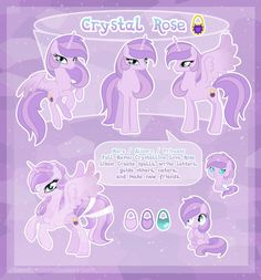 Crystal Rose - ultimate reference guide by LessaNamidairo on DeviantArt