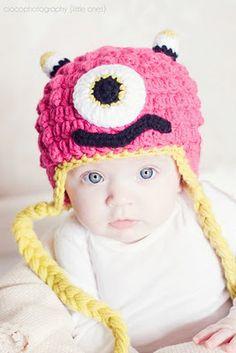 Crocheted Monster Hat, from Sweet Kiwi Crochet