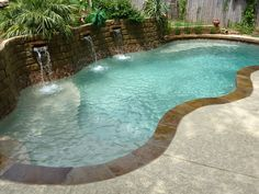See if the large Fiji design fiberglass inground swimming pool from Viking Pools will be the perfect fiberglass swimming pool model for your home. Small Backyard Pools, Backyard Pool Designs, Small Pools, Swimming Pools Backyard, Swimming Pool Designs, Pool Landscaping, Outdoor Pool, Lap Pools, Outdoor Ideas