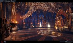throne artstation room winged fantasy anton concept asgard polycount backgrounds