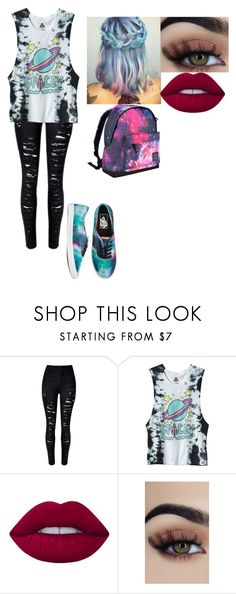 """""""Untitled #321"""" by youtubecrazyxx ❤ liked on Polyvore featuring Vans, Lime Crime and Hot Tuna"""