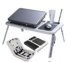 Portable Laptop Stand Foldable Table e Table With 2 USB Cooling Fans Notebook Adjustable Table, Adjustable Legs, Usb, Latest Computer Technology, Portable Laptop Table, Laptop Cooling Fan, Foldable Table, Unique Gadgets, Laptop Stand