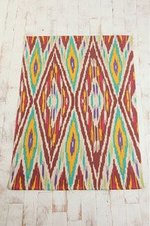 Urban Outfitters - Colourful Ikat Rug!!