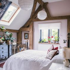 Oak Frame Self Sufficient Home Bedroom