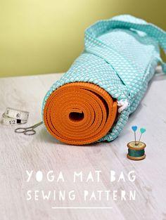 Yoga mat bag free pattern + tutorial