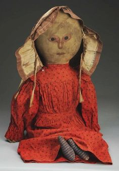 Antique Primitive Cloth Doll.