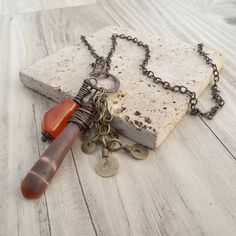 Nomadic Talisman Necklace A Mixed Metal Charm by GypsyIntent, $48.00