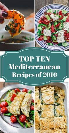 Top Mediterranean Recipes of 2016   The Mediterranean Dish. From Greek Salad, Moussaka, Spanakopita, to Kebabs, Cilantro Lime Chicken and One Pan Fish dishes. 10 healthy Mediterranean recipes that follow the Mediterranean diet, all delicious recipes that will become family favorites! Vegan, clean eating, paleo and more recipes. See them on TheMediterrananDish.com