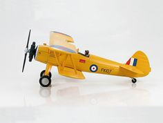 Hobbymaster 1:48 Boeing Stearman Diecast Model Airplane - HA8103 This Boeing Stearman PT-27 `Kaydet` FK107 Diecast Model Airplane features working propeller. It is made by Hobbymaster and is 1:48 scale (approx. 20cm / 7.9in wingspan). General Background The Stearman Aircraft Company produced a bi-plane trainer-aircraft called the Model 70. In 1935 the USN ordered the Model 70 with a Wright J-5 Whirlwind engine designated the NS-1. Boeing Aircraft Company bought Stearman and gave the Model…