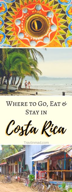 The Central American country of Costa Rica is an amazing and diverse place, but can be challenging to get around to some of the more remote regions. Here's a breakdown of what to eat, when to go, where to stay, and things to do in Costa Rica especially your first time. The first timers guide to Costa Rica, unofficially The Happiest Country in the World! | #CostaRica #puravida Costa Rica attractions, Things to do in Costa Rica, Where to Go in Costa Rica
