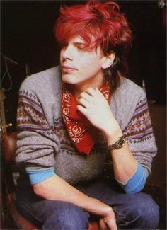 John Taylor. Hair color goals. If it didn't hurt my chances of a long term career, I wouldn't mind getting my hair dyed this color. I probably should have done this in school...
