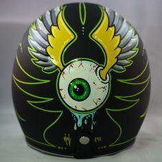 Custom Biltwell helmet.    SOLD.  www.crownhelmets.co  For more pics: http://sqi.sh/g8j