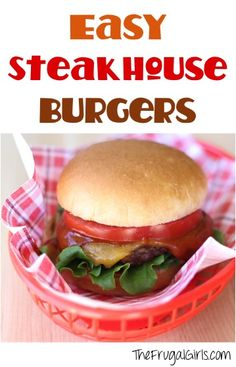 Easy Steakhouse Burgers Recipe! ~ from TheFrugalGirls.com ~ fire up the grill and get ready for a delicious flavor-packed burger! #recipes #thefrugalgirls
