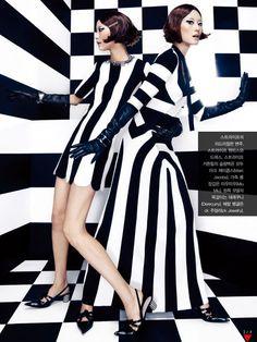 'Mono Clone' Young Joo Jung by Jang Hyun Hong for Vogue Korea February 2013 [Editorial]