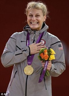 Kayla Harrison, first judo gold in U.S. history -- Olympics, London 2012. Her story is so inspiring. I cried when she won I was so happy!