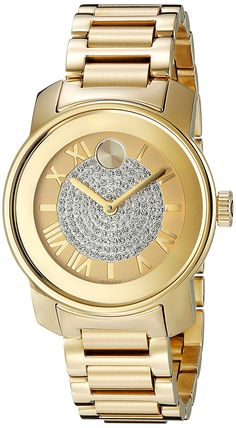 Movado Women's 3600255 Bold Gold-Tone Watch -- Want to know more about the watch, click on the image.