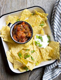 Homemade Small-batch Tomato Salsa - make delicious, homemade tomato salsa any time, on demand. No canning required!