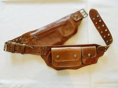 """Leather Festival Pouch Utility Belt """"Montana"""" - Trendy pocket belt for all your needs, festivals, concerts, traveling, and so much more"""
