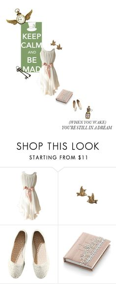 """""""keep calm and go mad"""" by summersdream ❤ liked on Polyvore featuring Juicy Couture, H&M, Monsoon, Bocage, ballet flats, vintage jewelry, shift dresses and wonderland"""