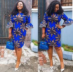 Who else is getting ankara vibes? Anyways, check out simple ankara styles for church this… Ankara Dress Styles, Latest African Fashion Dresses, Ankara Gowns, African Dresses For Women, African Print Dresses, African Print Fashion, African Attire, Ankara Stil, African Traditional Dresses