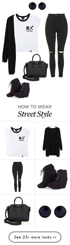 """Street Style"" by walexandria13 on Polyvore featuring Illustrated People, Topshop, Givenchy and The Row"
