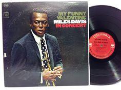 MILES DAVIS My Funny Valentine LP Vinyl Record on Columbia 2-eye Stereo