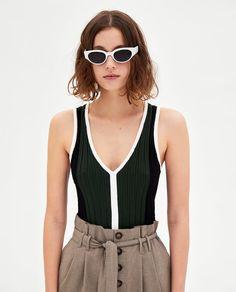 Afbeelding 3 van GERUITE PAPER BAG BROEK van Zara