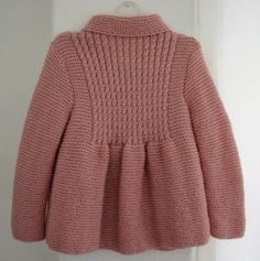Little Princess Coat For 2 to 3 Year Old Girls от AuthenticKnit Baby Knitting Patterns, Shrug Knitting Pattern, Coat Patterns, Knitting For Kids, Baby Sweaters, Girls Sweaters, 3 Year Old Girl, Baby Coat, Knitted Coat