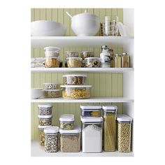 in the process of putting all my dried pantry foods in clear storage containers