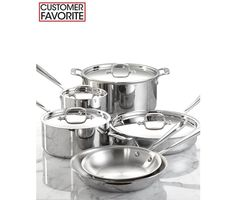 All-Clad Stainless Steel 10 Piece Cookware Set - Cookware - Kitchen - Macy's